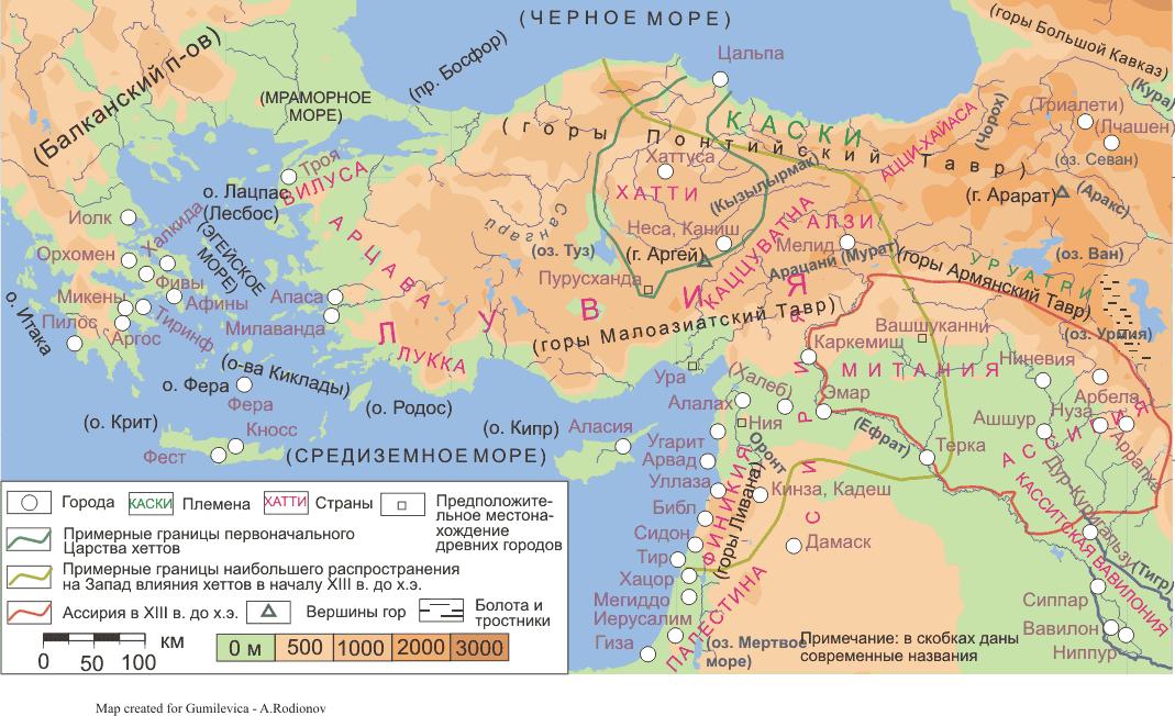 Карта 2 передняя азия и эгейский мир
